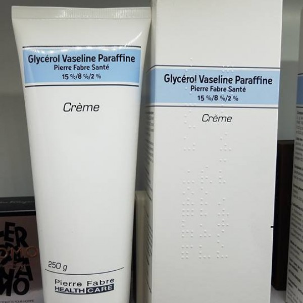Kem dưỡng da đặc trị nẻ, chàm Glycerol Vaseline Paraffine 250g - Pháp